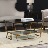 Agnes Black Granite Coffee Table - LUT5825