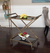 Zafina Gold Bar Cart - LUT2187