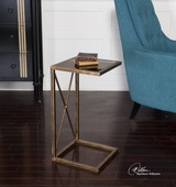 Zafina Gold Side Table - LUT2189