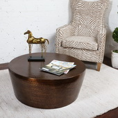 Hania Hammered Rustic Bronze Coffee Table - LUT5851
