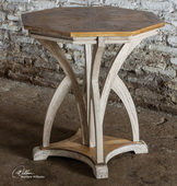 Ranen Aged White Accent Table  - LUT7921
