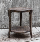Pias Rustic Accent Table - LUT2219