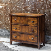 Cadie Wood Three Drawer Chest