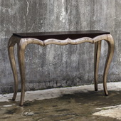 Verena Champagne Console Table - LUT5901