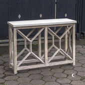 Catali Ivory Stone Console Table - LUT5935