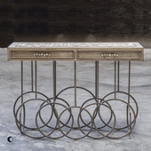 Silana Stone Mosaic Console Table - LUT5939