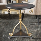 Lanzo Walnut Accent Table - LUT5991