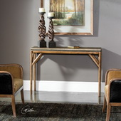 Kanti Metallic Champagne Console Table - LUT6005
