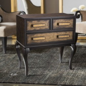 Mayra Ash Burl Accent Chest - LUT6007