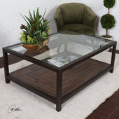 Carter Bronze & Glass Coffee Table - LUT6013