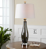 Belinus Gray Glass Table Lamp - LUT2359