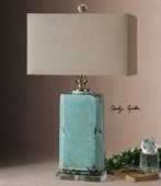Adalbern Blue Crackle Lamp - LUT2361