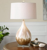 Flavian Glazed Ceramic Lamp  - LUT6858