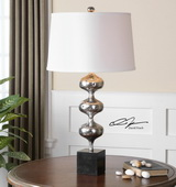 Cloelia Polished Silver Lamp - LUT2375
