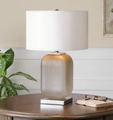 Forino Gray Glass Table Lamp - LUT2379
