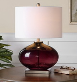 Tyrian Purple Glass Table Lamp - LUT2381