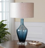 Hagano Blue Glass Table Lamp - LUT2383