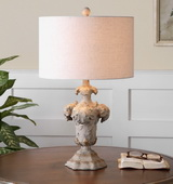 Cassano Antique Ivory Table Lamp - LUT2385