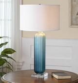 Caudina Frosted Blue Glass Lamp - LUT2387