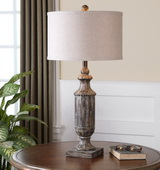 Agliano Aged Dark Pecan Lamp - LUT2393