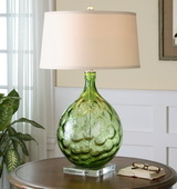 Florian Green Glass Table Lamp - LUT2399