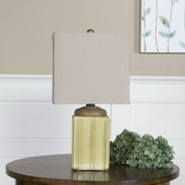 Kildare Green Ceramic Table Lamp - LUT2405
