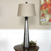 Mustapha Distressed Silver Table Lamp  - LUT6873