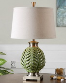 Flowing Fern Green Table Lamp  - LUT6878