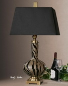 Amur Modern Smoked Glass Lamp  - LUT6885