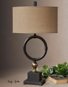 Pueblo Black Circle Table Lamp  - LUT6888