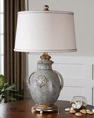 Cancello Blue Glaze Lamp  - LUT6931