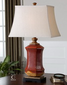 Fogliano Red Ceramic Lamp  - LUT6944