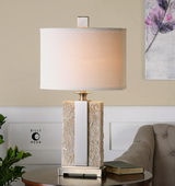 Bonea Stone Ivory Table Lamp - LUT2425