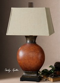 Suri Brunished Red Table Lamp  - LUT2260