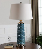 Delavan Rust Blue Table Lamp  - LUT6954