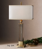 Caecilia Amber Glass Table Lamp  - LUT6966