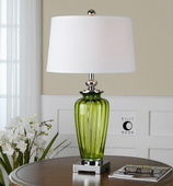 Amedeo Green Glass Table Lamp  - LUT6974
