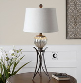 Cebrario Mercury Glass Table Lamp  - LUT6978