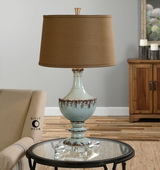 Molara Aged Blue Table Lamp - LUT2431