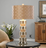 Cerreto Mercury Glass Table Lamp - LUT2437