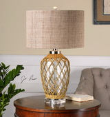 Foiano Glass Rope Table Lamp - LUT2447
