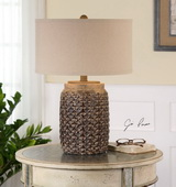 Bucciano Textured Ceramic Table Lamp - LUT2451
