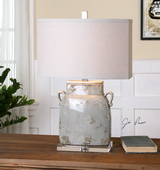 Melizzano Ivory-Gray Table Lamp - LUT2453