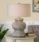 Verdello Antiqued Stone Table Lamp - LUT2455