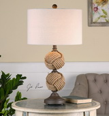 Higgins Rope Spheres Table Lamp - LUT2457