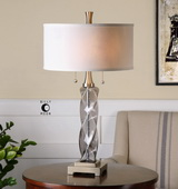 Spirano Gray Glass Table Lamp - LUT2467