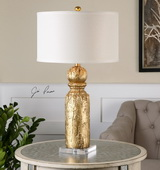 Lorenzello Gold Leaf Table Lamp - LUT2491
