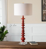 Adena Aged Red Table Lamp - LUT2495