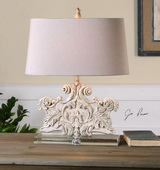 Schiavoni Ivory Stone Table Lamp - LUT2497