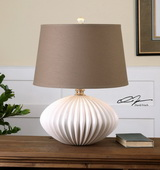 Bariano Gloss White Table Lamp - LUT2501